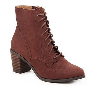 Lucky Brand Lace Up Combat Boots
